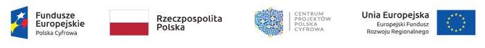 Logo złożone z symboli graficznych, oraz m.in. nazwy funduszu oraz programu, z którego w części lub w całości finansowany jest dany projekt